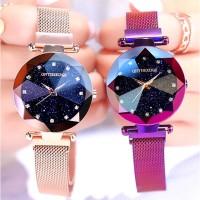 Jam Tangan Wanita ONTHEEDGE 522 Starry sky Magnet Crystal Anti Air