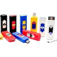 Korek Api Elektrik charging USB Cigarette Lighter keychain - HITAM