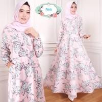 maxi dress emy abu pink 0055 gamis baju wanita busana muslim murah ta