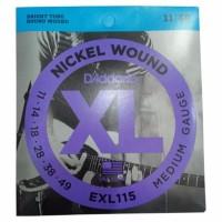D addario EXL115 Senar Gitar Elektrik 0 11 Original Daddario USA