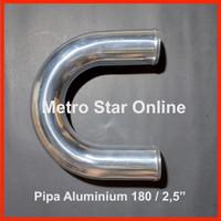 "Pipa Turbo Intercooler Turbo Intercooler Aluminium Pipe 180 / 2,5"""