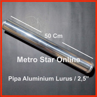 "Pipa Turbo Intercooler Turbo Intercooler Aluminium Pipe Lurus / 2,5"""