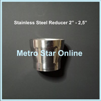 """Reducer 2""""-2,5"""" Stainless Steel"""