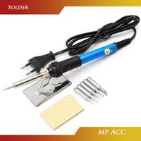 Solder Iron Adjustable Temperature 60W dengan 5 Mata Solder
