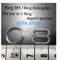 Ring Sliding Tali BH / Bra / Ring BH Transparan per set untuk 1 tali