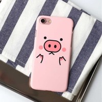 Hard Case Casing HP IPhone 5 5s SE 6s 7 7s 8 Plus 6 7 8 Pink Pig Cute