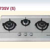 Rinnai RB73SV(S) kompor tanam 3 tungku stainless