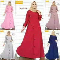 Pakaian Baju Busana Muslim Wanita Maxi Dress ZAARA Gamis Termurah
