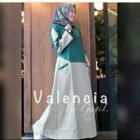 Baju Pakaian Busana Muslim Wanita Dress Maxi Gamis VALENCIA Terbaru
