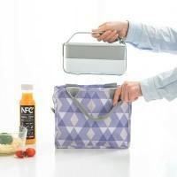 Lunch bag waterproof GEO SHAPE / tas bekal panas dan dingin ZIPPER
