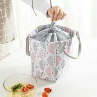 Lunch bag waterproof GEO SHAPE /tas bekal makanan panas & dingin serut