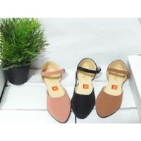 Sepatu Flat Shoes Tali Gelang Wanita / Flatshoes Tali Simple Wanita - Merah Muda, 36