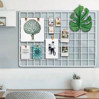 HIJANG Hiasan Dinding Putih Grid Wire Wall Mesh DIY Frame Vintage
