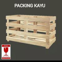 Packing kayu kecil untuk TV 32 inch dan air purifier