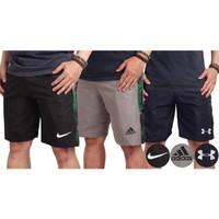 Celana Pendek Bahan Parasut army nike adidas