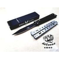 Pisau Lipat Balisong/Butterfly Black Stainless Steel-Self Defense Shop