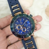 Guess Collection (Gc) Rubber Blue Case Rosegold D:45mm For Man