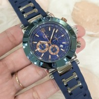 Guess Collection (Gc) Rubber Blue Case Silver D:45mm For Man