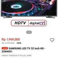 SAMSUNG LED TV 32 Inch HD-32N4001