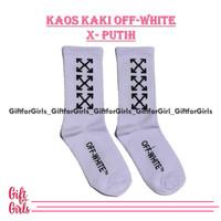 kaos kaki off white x putih. kaos kaki motif premium. offwhite