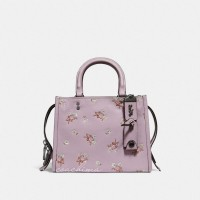 PO 26/6/19 - Coach Rogue 25 With Floral Bow Print Ice Purple