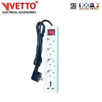 VETTO Stop kontak 5 Lubang 1.5 meter Full Universal SNI -V8205/1.5M+TB