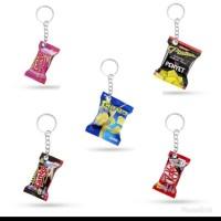 Gantungan Kunci Miniatur Replika Snack Dan Minuman 2