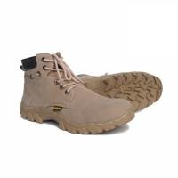 sepatu safety ujung besi / safety shoes type delta by sportex - Beige, 40
