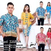 ZANNA set kutubaru couple batik sarimbit