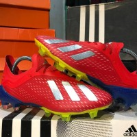 Sepatu Bola Adidas X 18.1 Red Silver Blue FG
