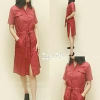 Tunik dress maroon [Dress 0140] KP19