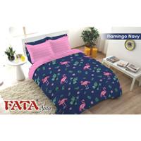 BED COVER SET FATA SIZE 180 X 200 - FLAMINGO NAVY NEW TERLARIS