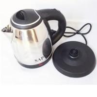 SALE GROSIR SAP Kettle Listrik Stainless Low Watt 1 Ltr SAP-899 - Silv