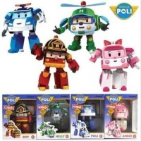 M109 Mainan Anak Robocar Poli 1 set - 4 pcs - Figure Transform ...
