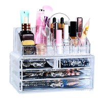 1Set Clear Make Up Box Drawers Cosmetic Organzier