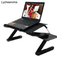Meja Laptop Portable Aluminium mousepad murah T6