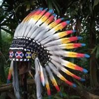 topi indian topi apache warbonnet baru
