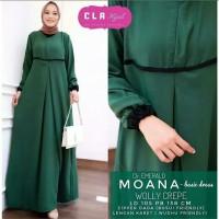 Pakaian Baju Busana Muslim Wanita Maxi Dress MOANA Gamis Terbaru
