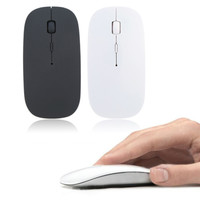 Mouse Wireless Flat Wireless Optical Mouse 2.4GHz / Wireless Mouse - Putih