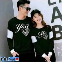 Baju Couple Lengan Panjang Kaos pasangan LP Soulmate Black 11178
