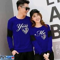 Baju Couple Lengan Panjang Kaos pasangan LP Soulmate Benhur 11177