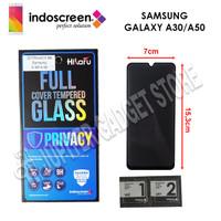 Samsung A30 / Samsung A50 Hikaru 3D Tempered Glass Privacy Full Cover