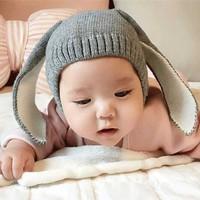 Topi Kupluk Bayi Rajut Aksen Telinga Kelinci - HT19