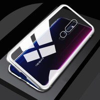 Oppo F11 Pro F11Pro Luxury Magnetic Case Metal Glass Back Cover Casing