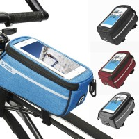 """Tas Frame Depan Sepeda MTB Ukuran 6 """"dengan Lubang Headphone"""