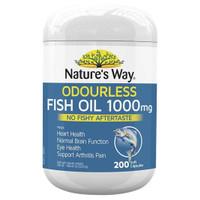 Minyak Ikan Nature's Way Odourless Fish Oil 1000 mg 200 Kapsul