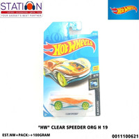 HOT WHEELS HW CLEAR SPEEDER ORANGE H 19