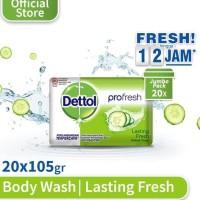 Terbaru Dettol Sabun Mandi Batang Lasting Fresh - Isi 20 Pcs X 105 Gr