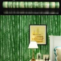 Wallpaper Bambu Hijau • Wallpaper Dinding 10M x 45Cm