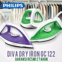 PHILIPS Diva Dry Iron GC122/77 Seterika Setrika Ready UNGU Original